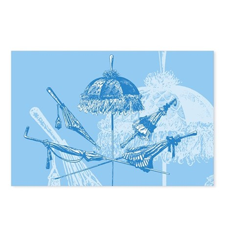 Blue Parasols Postcards (Package of 8)