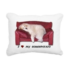 I Love My Couch Potato Rectangular Canvas Pillow