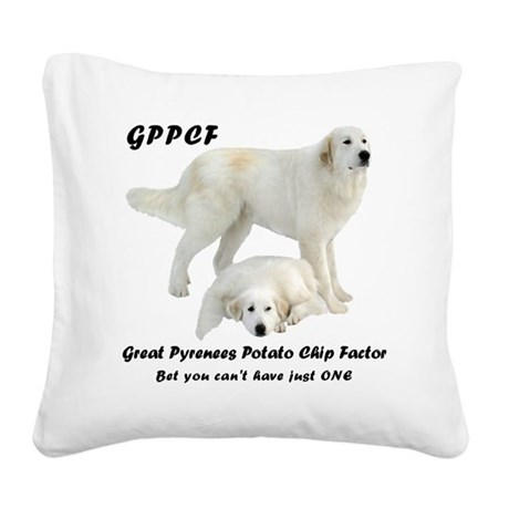 Great Pyrenees PCF Square Canvas Pillow