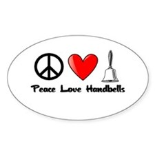 Peace, Love, Handbells Decal