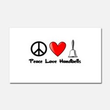 Peace, Love, Handbells Car Magnet 20 x 12