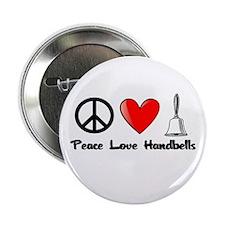 """Peace, Love, Handbells 2.25"""" Button"""