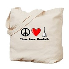 Peace, Love, Handbells Tote Bag