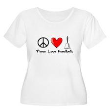 Peace, Love, Handbells Plus Size T-Shirt