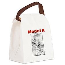Model A Controls Canvas Lunch Bag