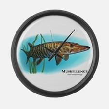 Muskellunge Large Wall Clock