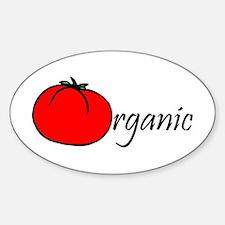 Organic Tomato Oval Decal