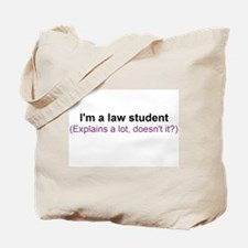 I'm a law student Tote Bag