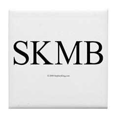SKMB White Tile Coaster
