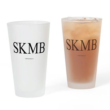 SKMB White Drinking Glass