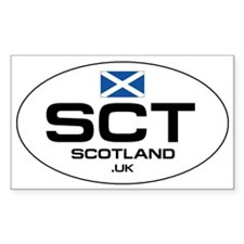 UN-Style Oval Automobile Sticker - Scotland Sticke