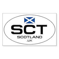 UN-Style Oval Automobile Sticker - Scotland Sticke