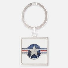 USAF US Air Force Roundel Square Keychain