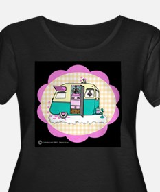 lil' vintage trailer plus size t~shirt