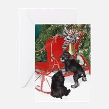 192_V_F_5x7_greetingcard_Santa_sleigh_Schnauzers.p