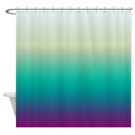Plum Ocean Shower Curtain