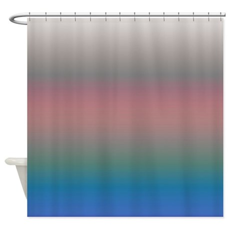 Coral Blue Shower Curtain By CopperCreekDesignStudio