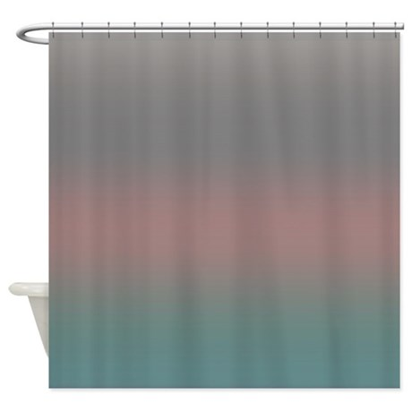 coral gray shower curtain by coppercreekdesignstudio. Black Bedroom Furniture Sets. Home Design Ideas
