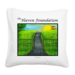 Revised White Haven Square Canvas Pillow