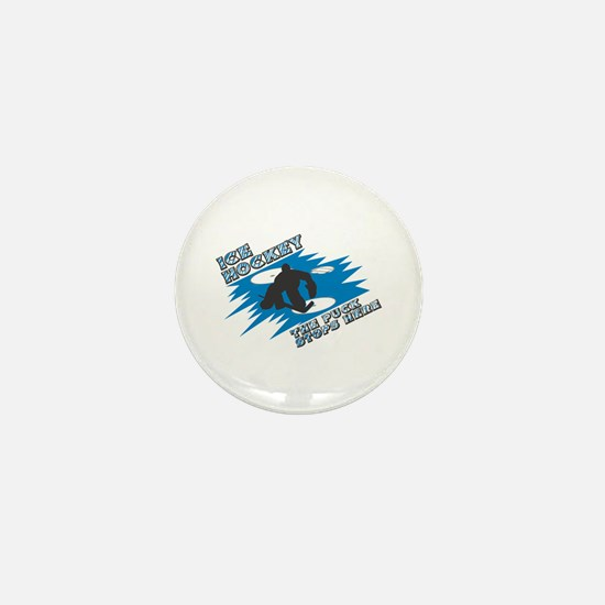 The Puck Stops Here Mini Button