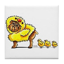 Brussels Griffon Chick Tile Coaster
