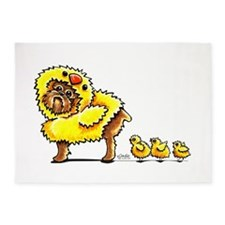 Brussels Griffon Chick 5'x7'Area Rug