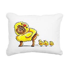 Brussels Griffon Chick Rectangular Canvas Pillow
