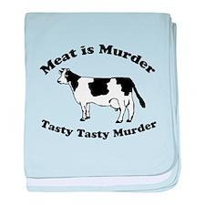 Meat is Murder Tasty Tasty Murder baby blanket
