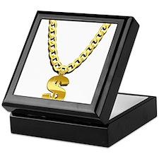 Gold Chain Keepsake Box