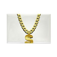 Gold Chain Rectangle Magnet