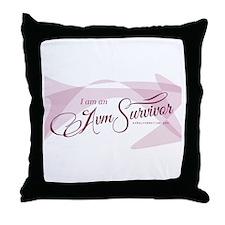 I am an AVM Survivor Throw Pillow