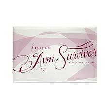 I am an AVM Survivor Rectangle Magnet
