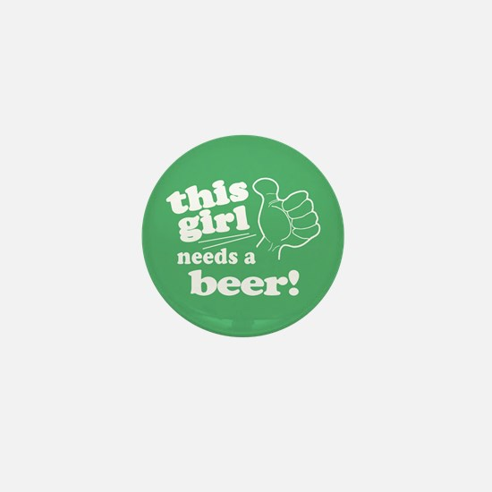 Irish Girl Needs a Beer Mini Button