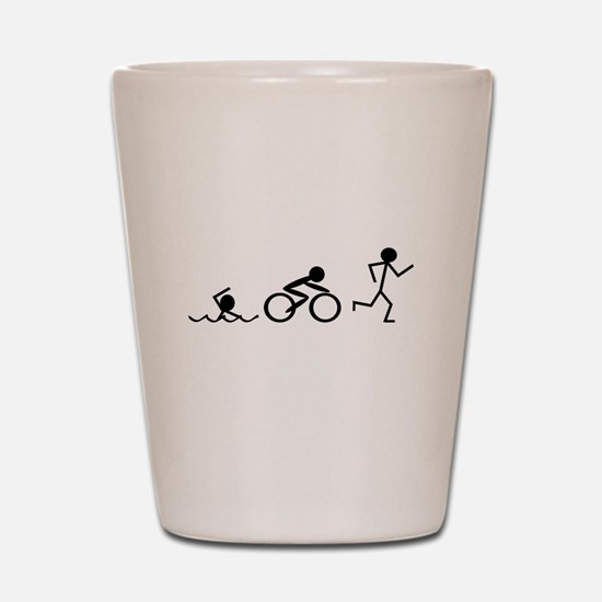 Triathlon Shot Glass