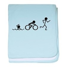 Triathlon baby blanket