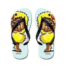 Brussels Griffon Chick Flip Flops