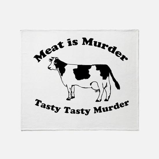 Meat is Murder Tasty Tasty Murder Throw Blanket