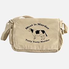 Meat is Murder Tasty Tasty Murder Messenger Bag
