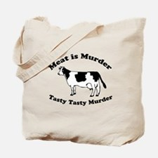 Meat is Murder Tasty Tasty Murder Tote Bag