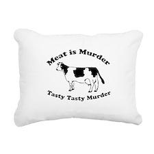 Meat is Murder Tasty Tasty Murder Rectangular Canv