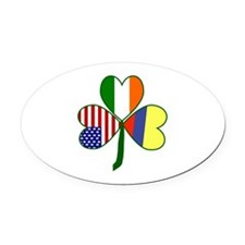 Shamrock of Colombia Oval Car Magnet