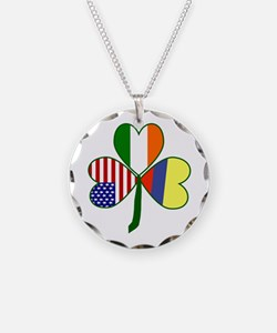 Shamrock of Colombia Necklace Circle Charm