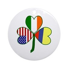 Shamrock of Colombia Ornament (Round)