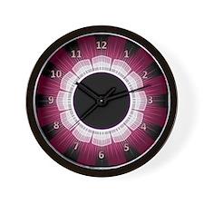 Magenta Flower Wall Clock