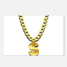 Gold Chain Postcards (Package of 8)