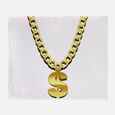 Gold Chain Throw Blanket