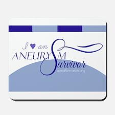 I <3 An Aneurysm Survivor (Blue) Mousepad