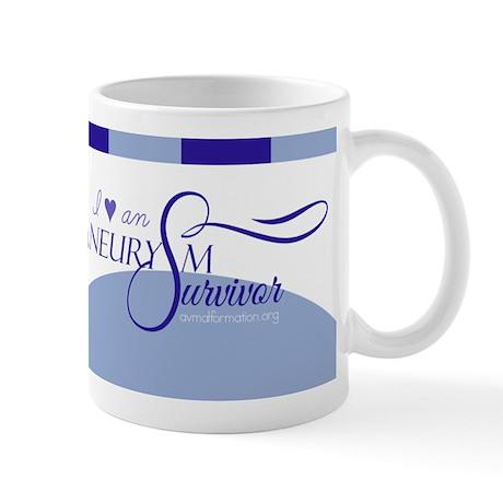I <3 An Aneurysm Survivor (Blue) Mug