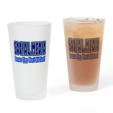 Social Media Kill Time Drinking Glass