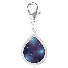 Pleiades Silver Teardrop Charm